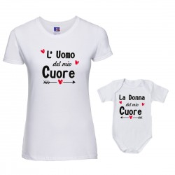 Coppia T-Shirt Body Uomo...