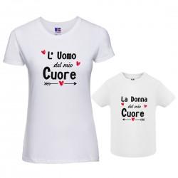 Coppia T-shirt Uomo Donna...