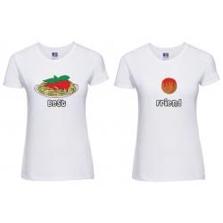 Coppia T-shirt donna Best...