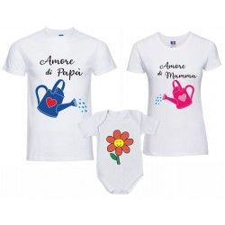 Coppia T-shirt Body tutina...