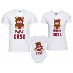 tris T-shirt papà orso...