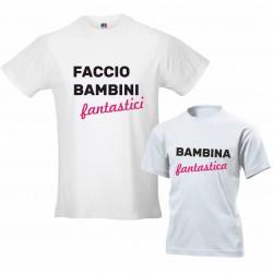 Coppia T-shirt padre figlia...