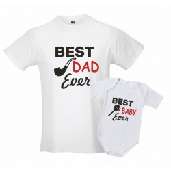 Coppia T-shirt padre body...
