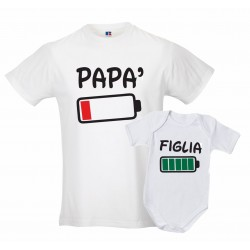 Coppia T-shirt tutina padre...