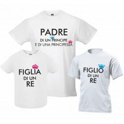Tris T-shirt papà figlio...
