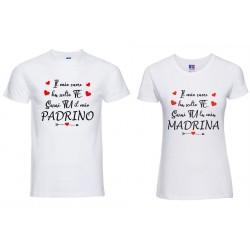 Coppia T-shirt padrino e...