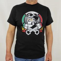 T-shirt Uomo teschio fiamme