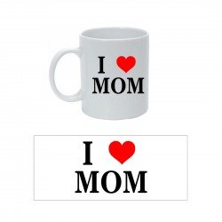 Tazza con Stampa I Love Mom