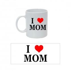 Tazza con Stampa I Love Mom