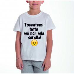 T-shirt Bimbo con Stampa...