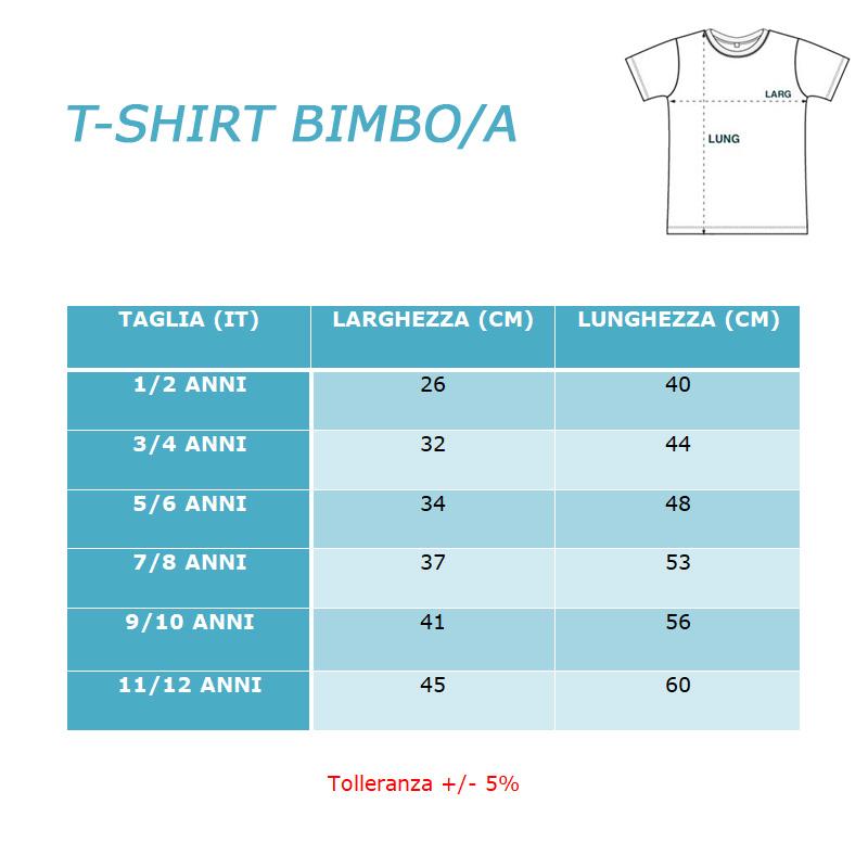 TAGLIE T-SHIRT BIMBO