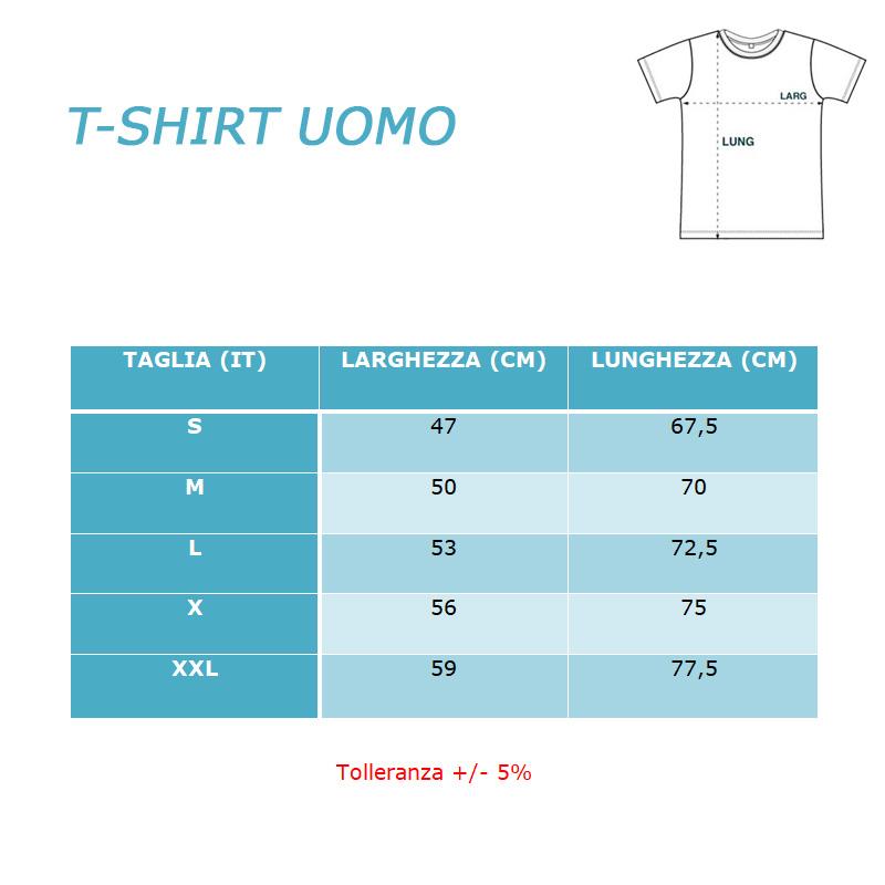 TAGLIE T-SHIRT UOMO